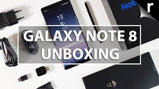 Samsung Galaxy Note 8 Unboxing, Setup and Hands-on