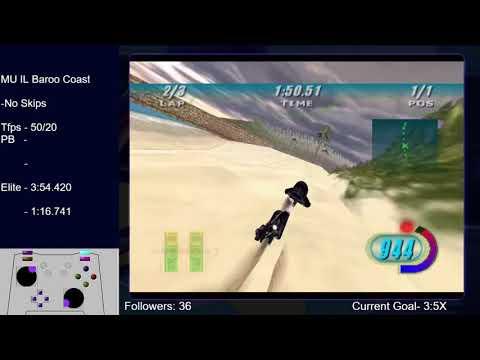 Baroo Coast (PB)- 3:57.879    Star Wars Episode 1: Racer  