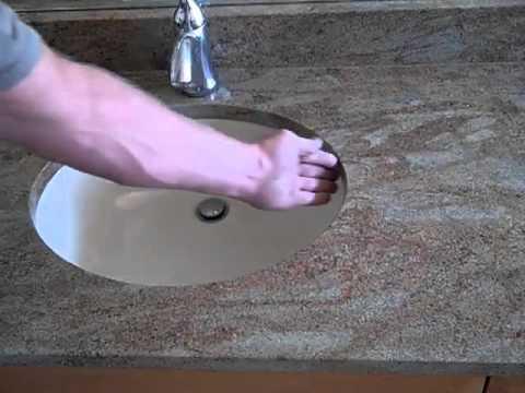 caulking around an undermount sink