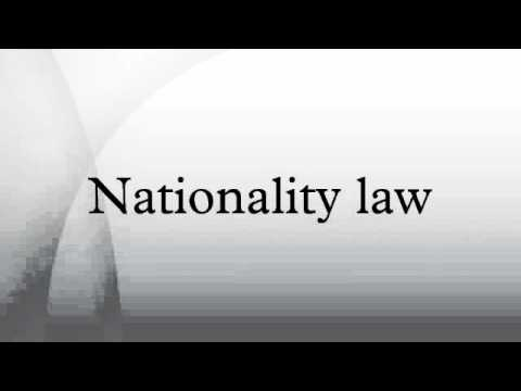Nationality law
