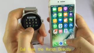 SEPVER K88h Smart Watch Round IPS Screen compatible with iPhone and Android Phones