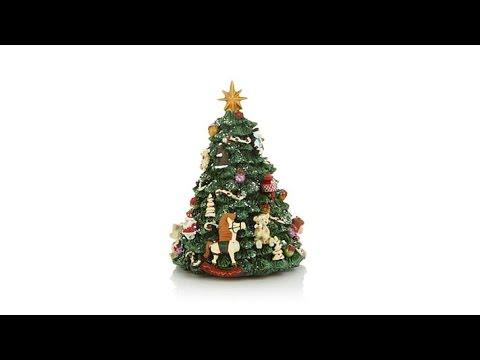 Winter Lane Revolving Musical Christmas Tree