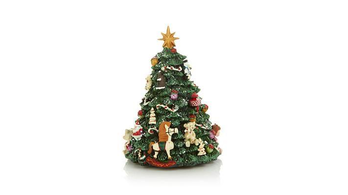 Winter Lane Revolving Musical Christmas Tree - YouTube