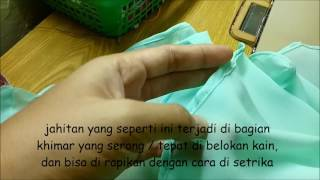 Teknik Menjahit Khimar / Jilbab / Kerudung