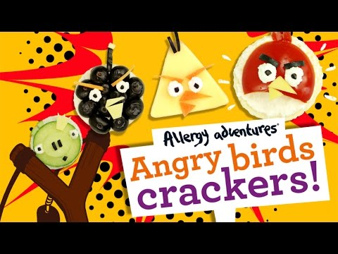 Angry Birds Crackers! Gluten-free, dairy free, nut free, soya free, egg free