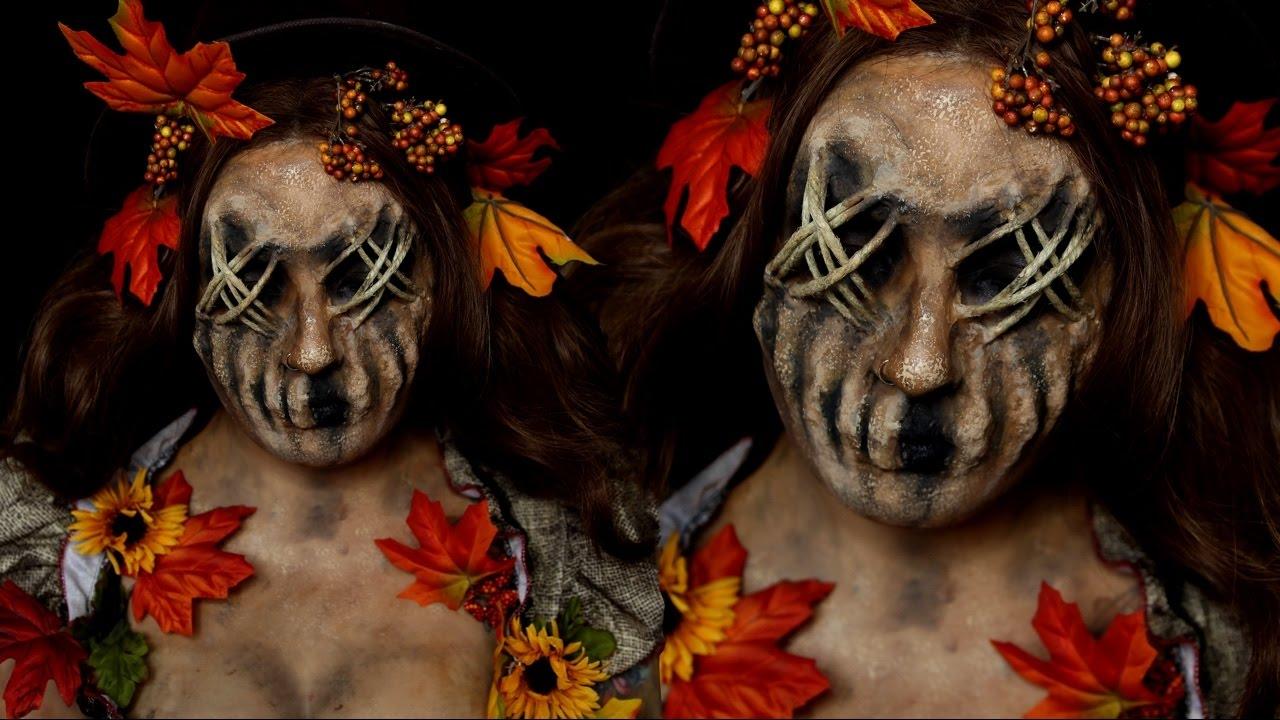 Scarecrow Halloween Costume Makeup Tutorial - YouTube