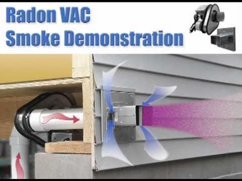 Tjernlund radon vac model rms160 smoke video youtube for Cheap radon mitigation