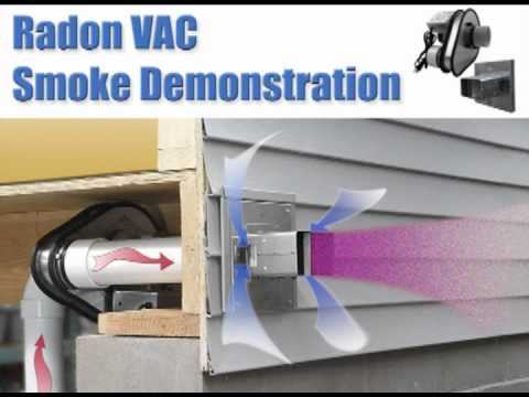Tjernlund Radon Vac Model Rms160 Smoke Video Youtube