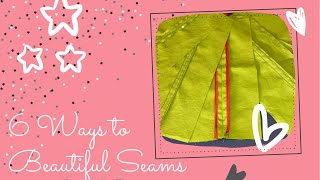 6 ways to fiฑish off your Seams Beautifully! Sew Easy Seams 🧵