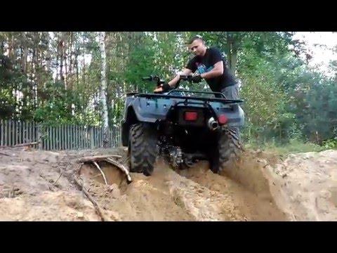 ATV Yamaha Big Bear 350 4x4 Off road wyciąganie quada GoPro