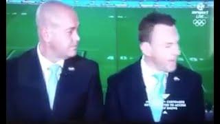 Repeat youtube video Nathan Fien drops F-Bomb - swears LIVE on Fox Sports / Sky Sports