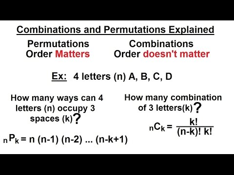 Probability Amp Statistics 35 Of 62 Combinations And