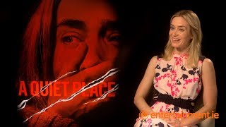 "Emily Blunt on her ""secret language"" with John Krasinski 