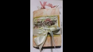 Junk Journal Preview - Handcrafted Journal - Pink & Green Accent Journal {{SOLD}}