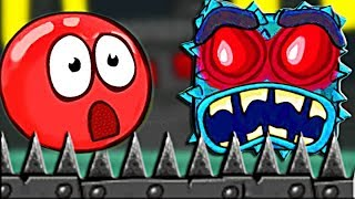 КРАСНЫЙ ШАР И ОДНОГЛАЗЫЕ КВАДРАТЫ Новый Мультик Игра для детей Несносный Шарик Red Ball 4 детский