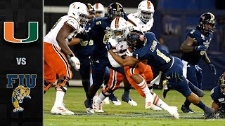 Miami vs. FIU Football Highlights (2019-20)
