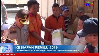 RIAU TV : 2 JUTA LEMBAR LEBIH SURAT SUARA PILPRES DAN PILEG TIBA DI TEMBILAHAN