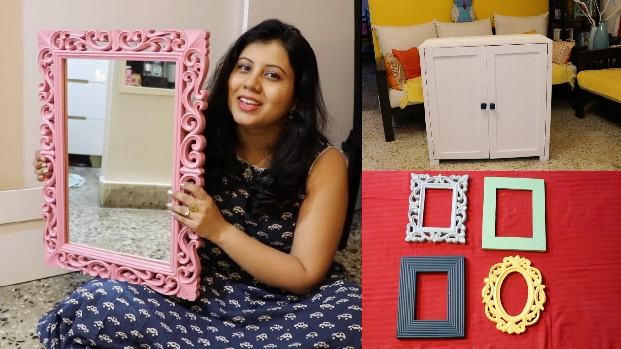 DIY Easy Home Decor Ideas | Mirror & Photo Frame DIY | Maitreyee Passion - Indian Daily Vlogger
