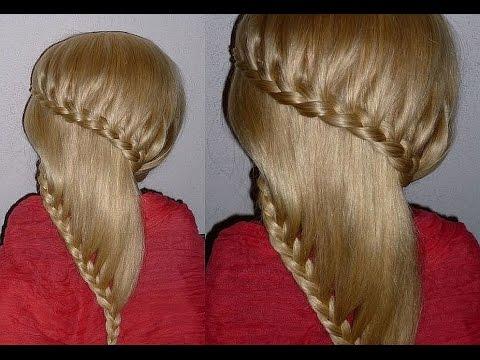 Причёска с плетением для средних, длинных волос.Причёски для девочек в школу