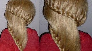 видео Косички на средние волосы для девочек
