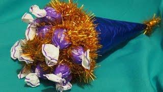 Новогодние поделки своими руками - Игрушка из конфет
