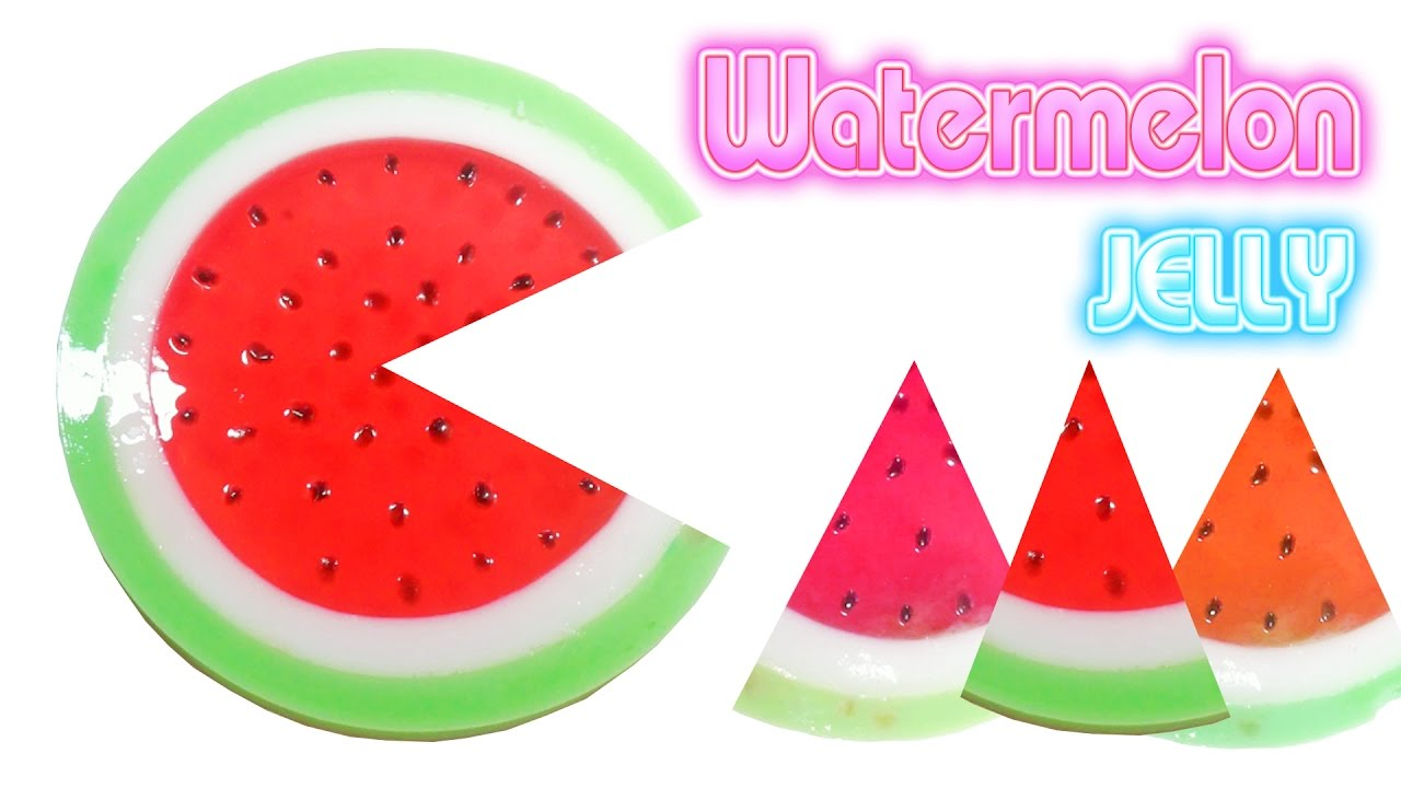 Jelly Cake Making: DIY How To Make Color Watermellon Jelly Cake