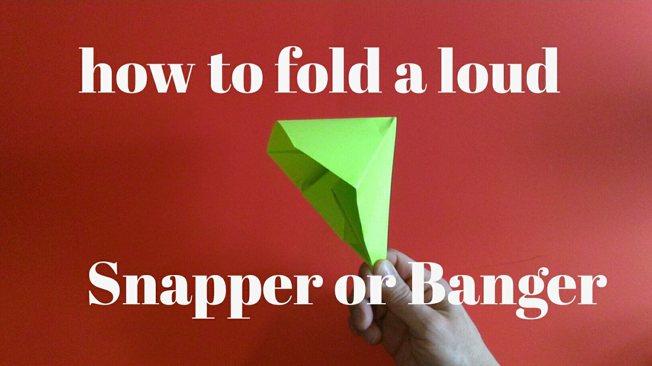 How to make a paper popper banger snapper youtube how to make a paper popper banger snapper jeuxipadfo Image collections