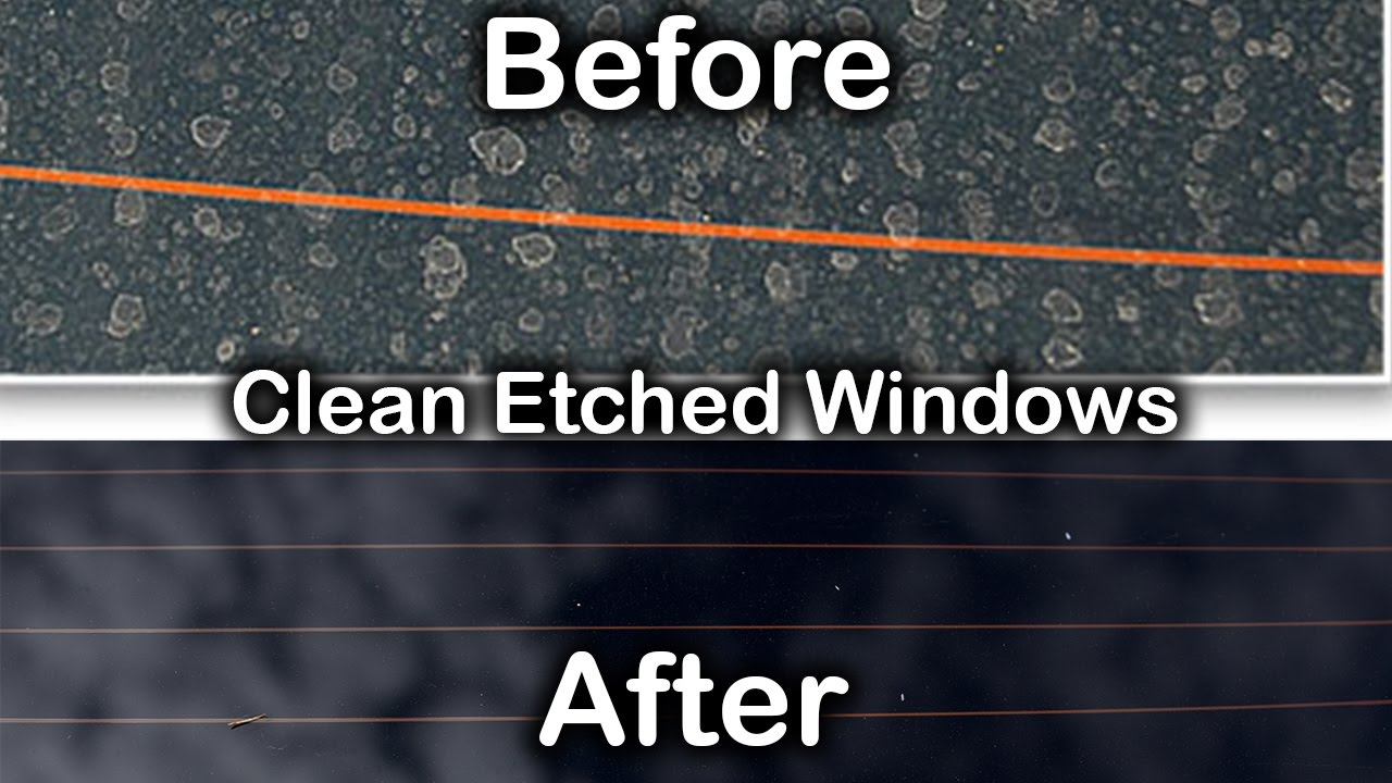 Remove Water Spots From Glass >> HOW TO: REMOVE WATER STAINS FROM WINDOWS - YouTube