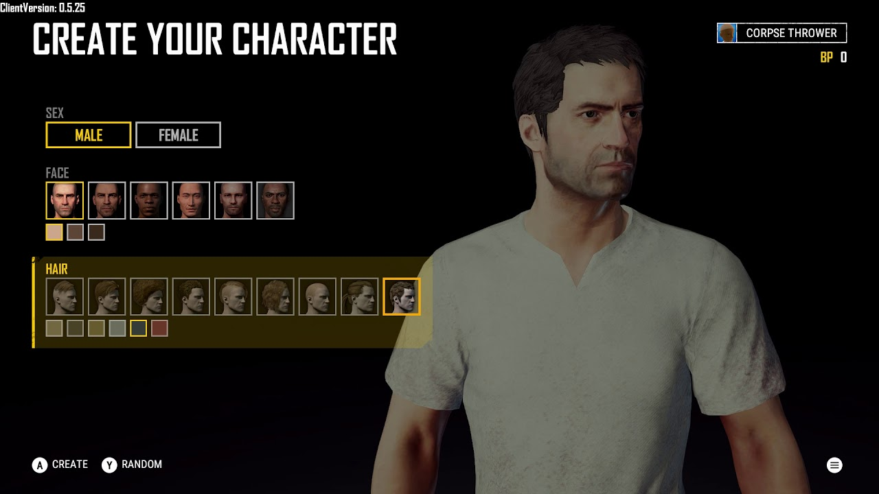 Pubg Create: Create Your Character: Male (Nine Different