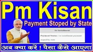 Pm Kisan | 1st installment payment stopped by state | pm kisan ka paisa kab milega