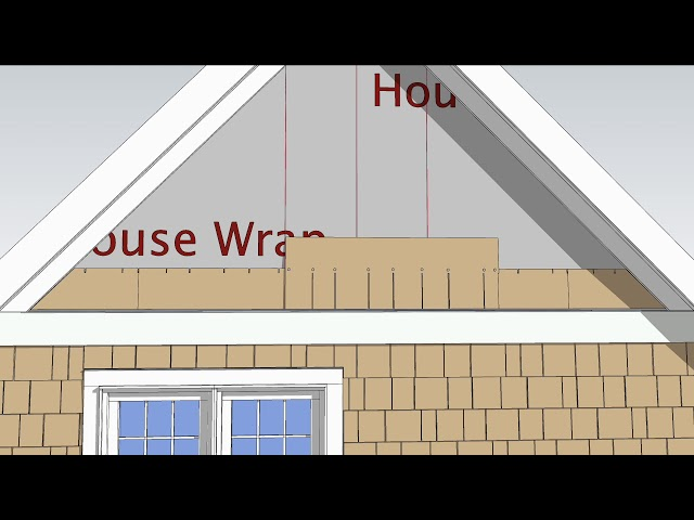 AZEK Shingle Siding- Gable Wall Installation