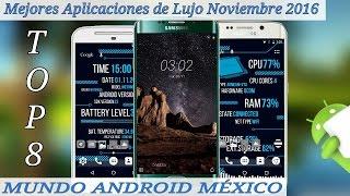 TOP 8 MEJORES APLICACIONES DE LUJO - NOVIEMBRE 2016 - MUNDO ANDROID MX