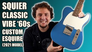 2021 Squier FSR Classic Vibe '60s Custom Esquire in Lake Placid Blue   Review & Demo