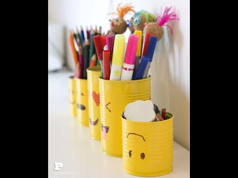 14 Super cool and creative ways to Reuse or recycle old tin cans | Learning Process