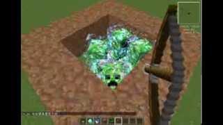 當個創世神 利用 暮光森林mod 製造高壓苦力怕