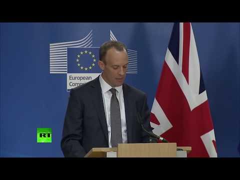 LIVE: New Brexit Secretary Dominic Raab & Michel Barnier hold joint presser