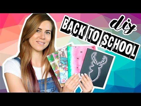 ОБЛОЖКИ ДЛЯ ТЕТРАДЕЙ | 7 вариантов как украсить скучные тетради | Back to School DIY 2016