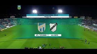 Fútbol en vivo. Atlético Tucumán- All Boys. Fecha 35. Primera B Nacional 2015. FPT.