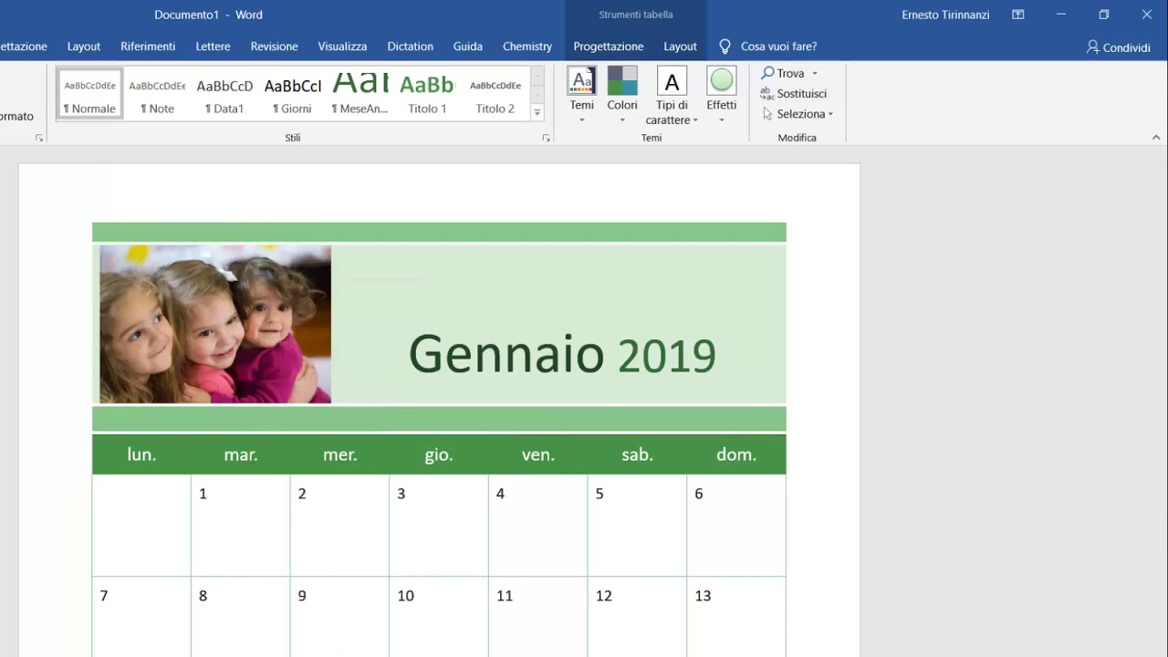 Fare Un Calendario Con Foto.Come Creare Un Calendario Con Word