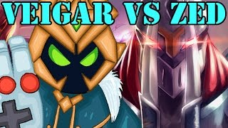 Veigar vs Zed Full Game - Safe Veigar Build