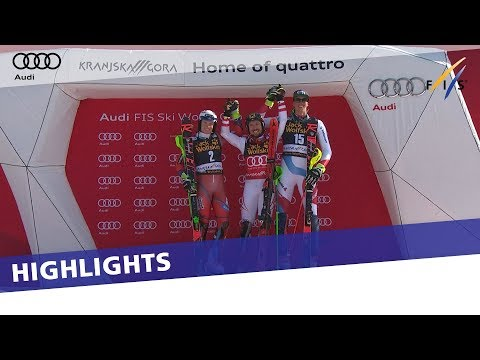 Marcel Hirscher Wins Slalom In Kranjska Gora To Lock Up Record 7th Overall Title | Highlights