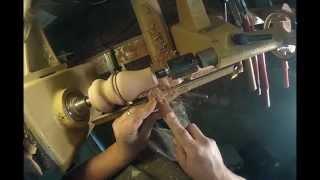 Woodturning Mahogany Furniture Bun In Under 10