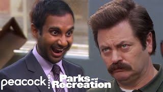 Tom Haverford's Best Moments: Tom Haverford Ridiculous Ron Swanson Greetings (Supercut)