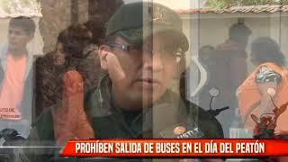 PROHIBEN SALIDA DE BUSES EN EL DÍA DEL PEATÓN