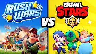RUSH WARS vs BRAWL STARS! 🔥 | Welches Spiel ist besser?