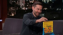 Tobey Maguire plays Jimmy Kimmel in connect four