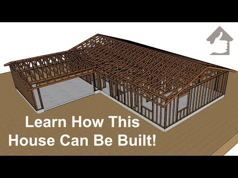 Three Bedroom L-Shaped House Construction – Foundation and Framing Education