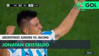 Jonatan Cristaldo (0-1) Argentinos Jrs. vs Racing | Fecha 7 - Superliga Argentina 2018/2019