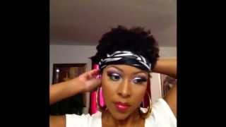 Ways To Wear A Scarf With Short Natural Hair 4b 4c Youtube