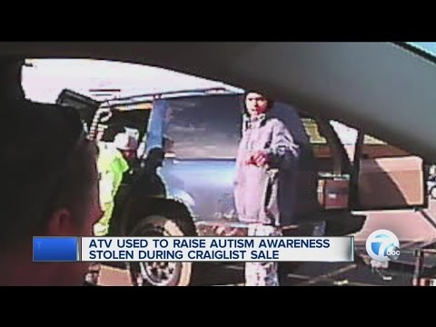 ATV to raise autism awareness stolen in Detroit - YouTube